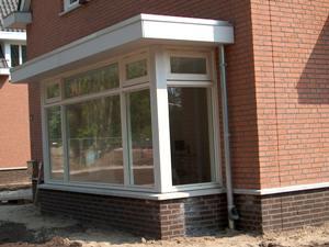 Casadata bouwkosten aanbouw erker 1 laags met plat dak for Bouwkosten per m3