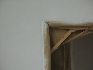 Casadata pleisterwerk binnenmuur afplakken afdekken en voorstrijken kleine oppervlakte - Kleine ijdelheid eenheid ...